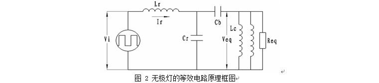 无极灯镇流器谐振电路工作在电阻性或电感性负载状态,这是高频电路